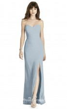 BDUK2238 Mermaid/Trumpet Sky Blue Chiffon Sweetheart Floor Length Bridesmaid Dress