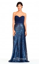 BDUK2287 Mermaid/Trumpet Blue Sequined Chiffon Sweetheart Floor Length Bridesmaid Dress
