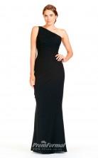 BDUK2293 Mermaid/Trumpet Black Chiffon One Shoulder Floor Length Bridesmaid Dress