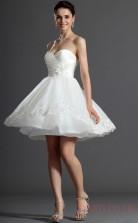 White Velvet Chiffon A-line Sweetheart Short Cocktail Dress(BD04-354)