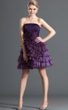 Regency 100D Chiffon A-line Strapless Mini Prom Dress(BD04-394)