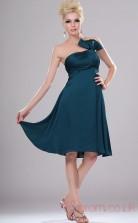 Ink Blue Organza A-line Strapless Mini Cocktail Dress(BD04-404)