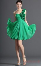 Jade 100D Chiffon A-line One Shoulder Sweetheart Short Prom Dress(BD04-412)