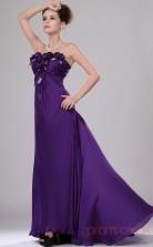 Regency 100D Chiffon A-line Strapless Long Evening Dress-(BD04-439)