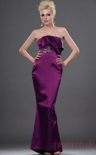 Regency Satin Trumpet/Mermaid Strapless Long Evening Dress-(BD04-448)