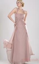 Blushing Pink 100D Chiffon A-line Halter Floor-length Prom Dress(BD04-466)