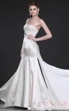 Ivory Stretch Satin Sheath/Column One Shoulder Floor-length Prom Dress(BD04-473)