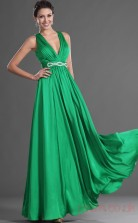 Clover 100D Chiffon A-line V-neck Floor-length Prom Dress(BD04-505)