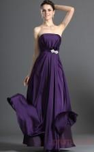 Regency Satin Chiffon A-line Strapless Long Evening Dress-(BD04-533)