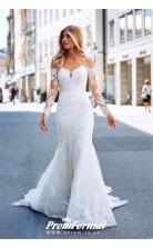 Long Sleeve Mermaid Lace City Street Wedding Dress Glasgow BWD050
