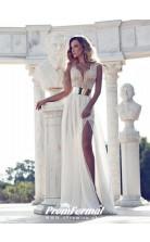 Simple Boho Chiffon Flowy Summer Beach Wedding Dress London BWD091