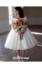 Vintage Breathtakin 1950s Vintage Tea Length Short Wedding Dress BWD099