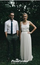 Simple Elegant Country Garden Casual Classic Wedding Dress Manchester BWD125