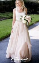 Champange Straps Church Boho Rustic Modern Wedding Dress Cardiff BWD144