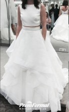 Two Piece Tulle Wedding Dress Layered for Mother Brides BWD203