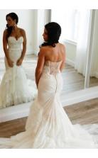 Sweetheart Lace Mermaid Wedding Dress for Curvy Women BWD214