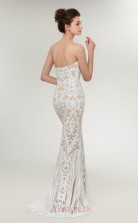 Mermaid White Sequined Sweetheart Neck Long Prom Dresses XH-C0016