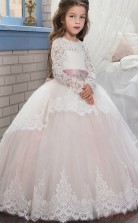 New Ball Gown Long Sleeve Kids Prom Dress for Girls CH0102