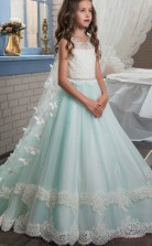 Princess Sleeveless Kids Prom Dress for Girls CH0107