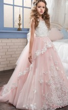 Princess Sleeveless Kids Prom Dress for Girls CH0116