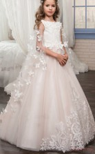 Princess Sleeveless Kids Prom Dress for Girls CH0120