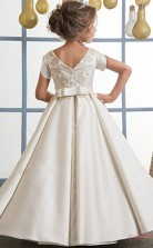 Princess Short Sleeve Kids Prom Dress for Girls CH0121