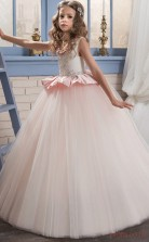 Ball Gown Sleeveless Kids Prom Dress for Girls With Beading CH0128