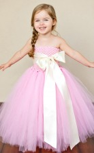 Princess Off The Shoulder Pearl Pink Kids Girls Dress CH0157