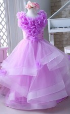 Princess Jewel Purple Kids Girls Dress CH0164