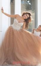 Sweetheart Sleeveless Coral Kids Prom Dresses CHK005