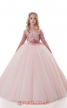 Jewel Half Sleeve Chic Kids Prom Dresses CHK011
