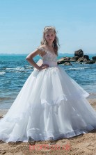 Jewel Sleeveless Chic Kids Prom Dresses CHK020