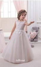 Tulle , Lace Princess Jewel Sleeveless Girls Prom Dresses CHK145