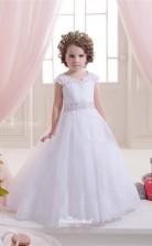 Tulle , Lace Princess Illusion Sleeveless Wedding Dress CHK151