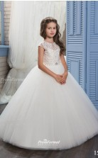 Tulle , Lace Princess Illusion Sleeveless Dresses for 12 years olds CHK156