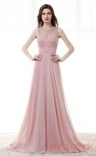 Nude Pink Chiffon Lace Sequined A-line Bateau Sleeveless Prom Dresses(JT4-CZM187)