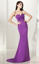 Purple Satin Trumpet/Mermaid Sweetheart Sleeveless Evening Dresses(JT4-CZMC111)