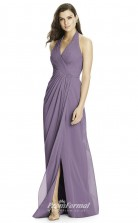 DASUK2992 Plus Sides A Line Halter Purple 101 Chiffonper Bridesmaid Dresses