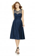 DASUK6750 Plus Sides A Line Jewel Navy Blue 102 Laceper Bridesmaid Dresses