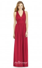 DASUK6752 Plus Sides A Line V Neck Ruby 1 Chiffon With Strappy Bridesmaid Dresses