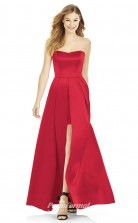 DASUK6755 Plus Sides A Line Strapless Ruby 1 Satinper Bridesmaid Dresses