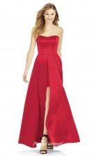 DASUK6755 Plus Sides A Line Strapless Ruby 1 Satinper Bridesmaid Dresses