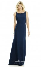 DASUK6758 Plus Sides Mermaid/Trumpet Scoop Navy Blue 102 Satin Chiffon With Strappy Bridesmaid Dresses