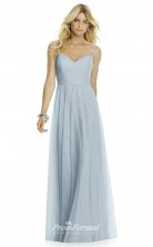 DASUK6766 Plus Sides A Line Straps Light Sky Blue 65 Silk Like Chiffonper Bridesmaid Dresses