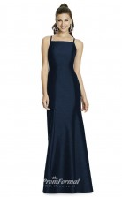 DASUKD735 Plus Sides Mermaid/Trumpet Square Navy Blue 102 Satin With Strappy Bridesmaid Dresses