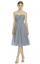 DASUKJY535 Plus Sides A Line Sweetheart Silver Lace ,Tulleper Bridesmaid Dresses