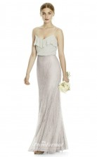 DASUKJYS529 Plus Sides Mermaid/Trumpet Straps Beige 91 And Gray 93 Lace Chiffonper Bridesmaid Dresses
