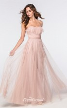 DASUKWS2304 Plus Sides A Line Sweetheart Pearl Pink 114 Tulle With Low Back Bridesmaid Dresses