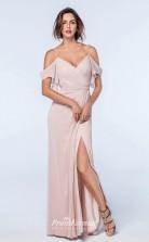 DASUKWS2511 Plus Sides A Line Off the Shoulder Light Pink 112 Chiffonper Bridesmaid Dresses