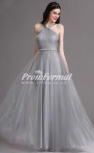 EBD017 Halter Silver Bridesmaid Dresses